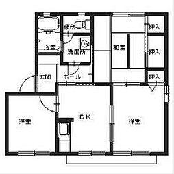 アベリア新家[A202号室]の間取り