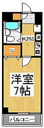 第二アビタシオン浅倉[3階]の間取り
