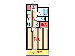 ファミール新木戸[101号室]の間取り