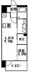 グランフォーレ大名プレミア 10階1LDKの間取り