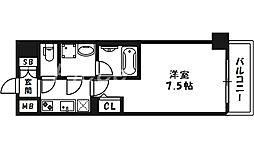 ファーストフィオーレ東梅田[3階]の間取り