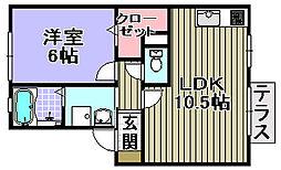 ジョイフルヨコタ3[101号室]の間取り