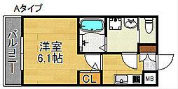H-maison天下茶屋[3階]の間取り