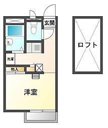 兵庫県赤穂市細野町の賃貸アパートの間取り