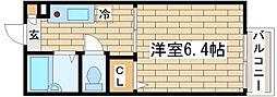 ディアス奥須磨[105号室]の間取り
