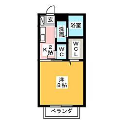 エルレーブ2B[2階]の間取り