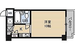 藤和シティコーポ新大阪[8階]の間取り