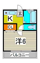 埼玉県川口市芝4の賃貸アパートの間取り
