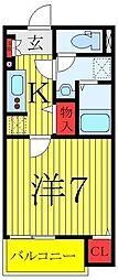 都営三田線 新板橋駅 徒歩8分の賃貸アパート 3階1Kの間取り