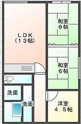 誠和ビル[4階]の間取り
