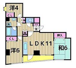 ハイネス綾瀬[3階]の間取り