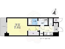 S-RESIDENCE三国WEST 5階1Kの間取り