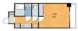 ジアコスモ江戸堀パークフロント[4階]の間取り