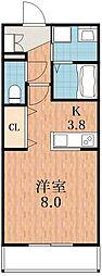 ホワイトキューブ[2階]の間取り