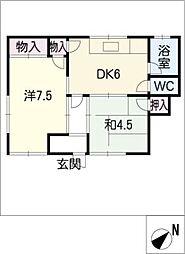 吉野荘[1階]の間取り