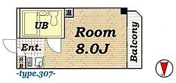 ハイツ加賀[307号室号室]の間取り