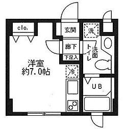 東京都板橋区清水町の賃貸マンションの間取り