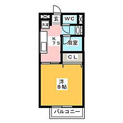 Maison Excel 高道[2階]の間取り