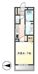 カスタリア新栄II(ロイジェント新栄I)[4階]の間取り