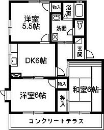 ファインKTK[C102号室号室]の間取り