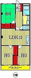 第2パークサイドマンション・ハル[3階]の間取り