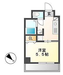 グラシア鶴舞[4階]の間取り