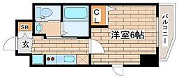 JR東海道・山陽本線 灘駅 徒歩2分の賃貸マンション 5階1Kの間取り