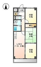 アネックス神戸[1階]の間取り