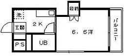 第3中川コーポラス[7階]の間取り