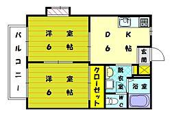 リゼール彩2[2階]の間取り