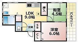 高徳町マンション[3階]の間取り