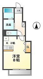 愛知県清須市土田2丁目の賃貸アパートの間取り