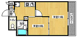 「デリード金閣寺道」[2階]の間取り