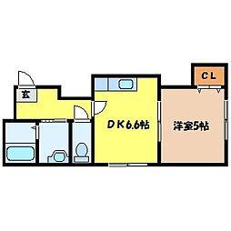 北海道札幌市中央区南四条西26丁目の賃貸マンションの間取り