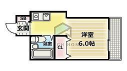 ガーデン346[2階]の間取り