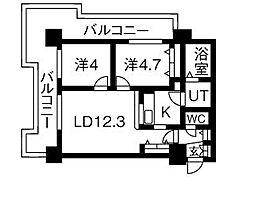 UURコート札幌北三条[810号室]の間取り