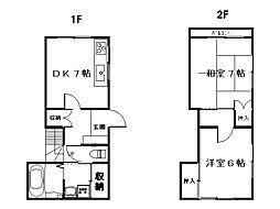 [テラスハウス] 神奈川県横須賀市小矢部3丁目 の賃貸【/】の間取り