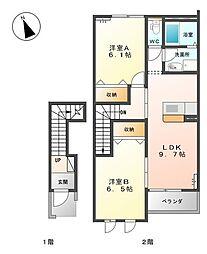 セドナ −[2階]の間取り