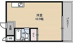 マンション西[2階]の間取り