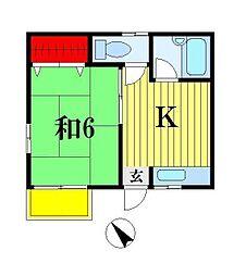 カーサハルミ[2階]の間取り