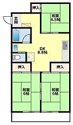 愛知県みよし市三好町蜂ヶ池の賃貸マンションの間取り