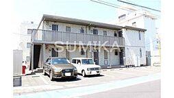 岡山県岡山市北区厚生町2丁目の賃貸アパートの外観