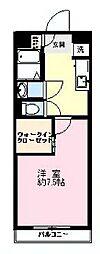 埼玉県富士見市鶴馬の賃貸マンションの間取り