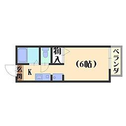 ハイツKOUNAN[102号室]の間取り