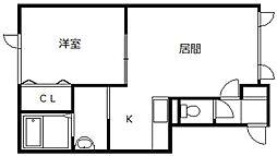 北海道旭川市旭町二条5丁目の賃貸アパートの間取り
