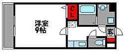 ラティーナ松香台II[2階]の間取り