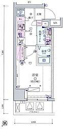 リヴシティ横濱宮元町[2階]の間取り