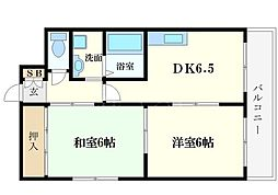 ノアーズアーク桜川[3階]の間取り