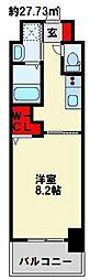 JR日豊本線 南小倉駅 徒歩24分の賃貸マンション 3階1Kの間取り