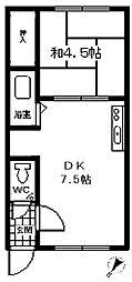 レジデンス深堀[115号室]の間取り
